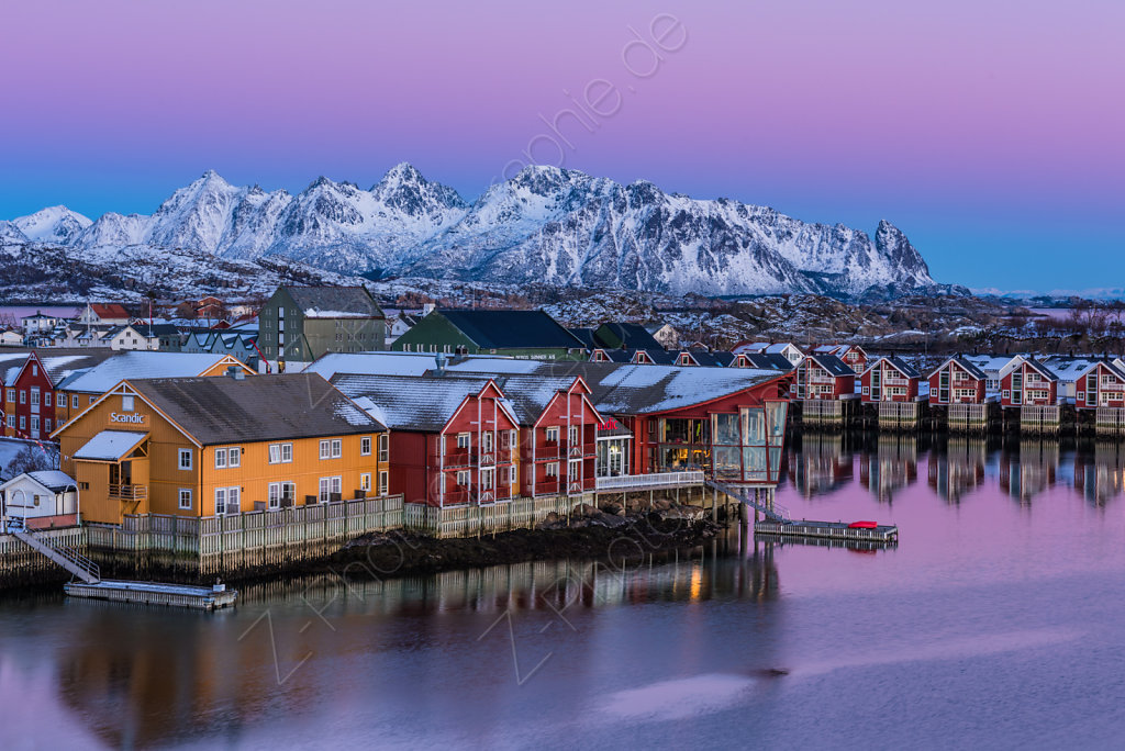 Dusk in Svolvaer, Norway