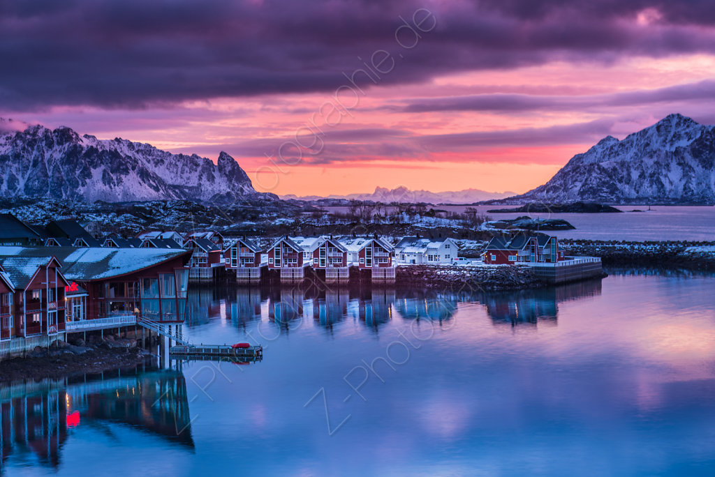 Sunrise at Svolvaer, Norway